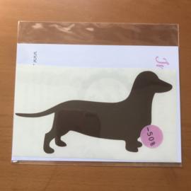 Sticker Teckel bruin