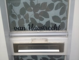 Naam sticker voordeur
