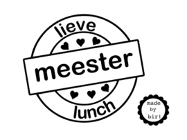 Lieve meester lunch 8 cm breed