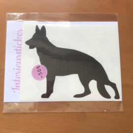 Sticker Duitse herder zwart