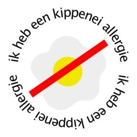 Allergie sticker - Kippenei