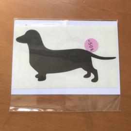 Sticker Teckel zwart