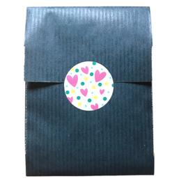 Confetti 2 - sticker rond 30 mm - set van 5