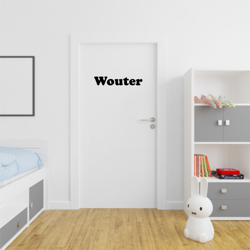 Naam sticker - Modern