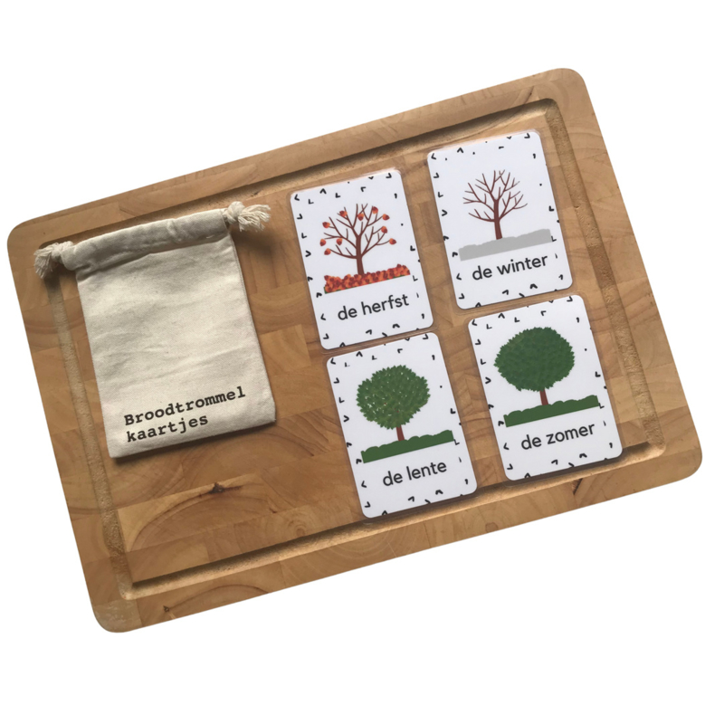 Kleuter set  Seizoenen - Broodtrommelkaartjes