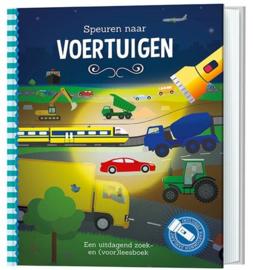 Speuren naar voertuigen | Zaklamp boek