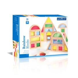 Regenboog Blokken Kleur G3016| Guidecraft | 30 dlg.