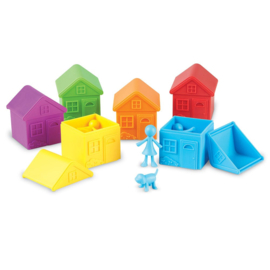 Buren Sorteer Set Huisjes en Poppetjes |  Learning Resources | 42 dlg.