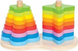 Hape Stapelvormen Regenboog