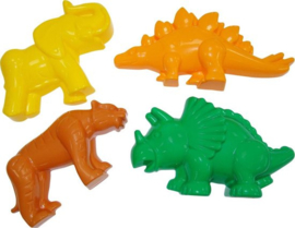 Zandvormen Dino's en Wilde Dieren |  4 dlg.