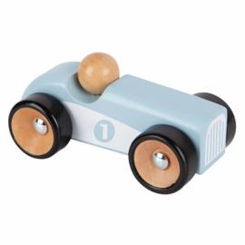 Houten Sportauto licht blauw | Playing Kids