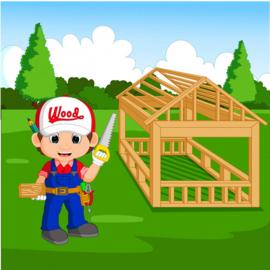 Thema de timmerman (We bouwen een huis)