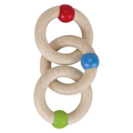 Houten Bijtring met 3 Ringen