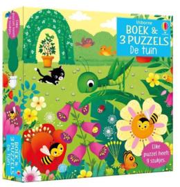 Boek & 3 Puzzels - De tuin