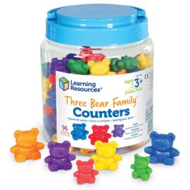 Berenfamilie tellers incl. 6 sorteerkommen   Learning Resources   102 dlg.