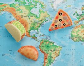 Eten van de wereld | Zintuiglijke Speel Stenen | Yellow Door | 8 dlg.