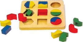 Houten geometrie puzzel 19-delig