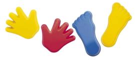 Zandvormen handen en voeten