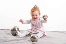 Sensory reflecterende zilveren ballen 4 stuks TickiT