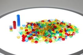 Transparante stapelbare tellers TickIt 500 dlg