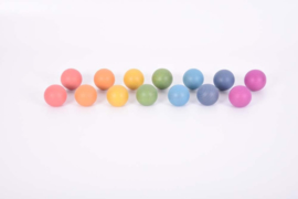 Rainbow houten ballen TickIt 14 dlg. Loose Parts