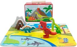 Speelkoffer Dinosaurus | 20 dlg.