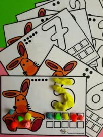Educatieve spelletjes met opdrachtkaarten