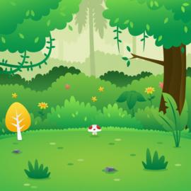 Thema in het bos