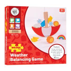 Het weer Houten Balansspel (nu met gratis weer kaartjes)
