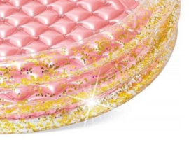 ZWEMBAD gouden glitter badje met roze | INTEX