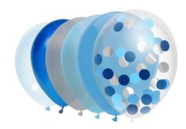 Ballonnen Blauw | 10 stuks
