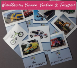 Woordkaartenset vervoer/transport/verkeer