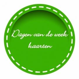Kaarten: dagen van de week