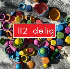 GROTE  set Loose Parts Tickit 112 dlg + GRATIS houten regenboog ringen