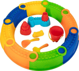 Zandbakring met Zandbak spullen | Funny Toys | 16 dlg.