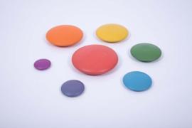 Houten keien regenboogkleuren 7 dlg. TickiT