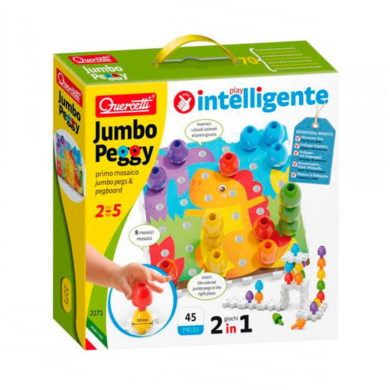 Quercetti Jumbo Insteek Pinnen, 45dlg.