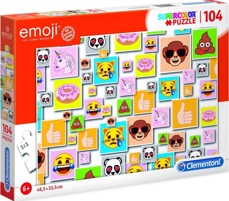 Puzzel Emoji Junior Karton   Clementoni    104 Stukjes