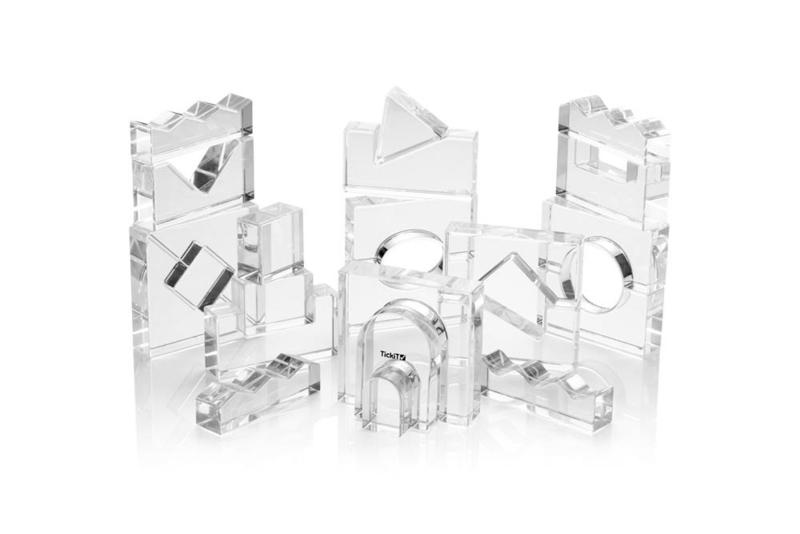 Kristalheldere acrylblokken TickiT | 25 dlg.