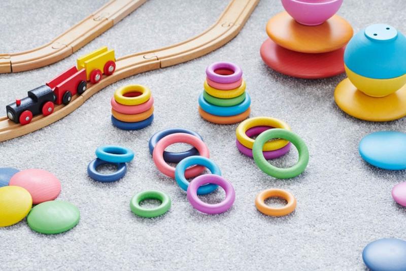 Rainbow houten ringen TickIt 21 dlg. Loose Parts