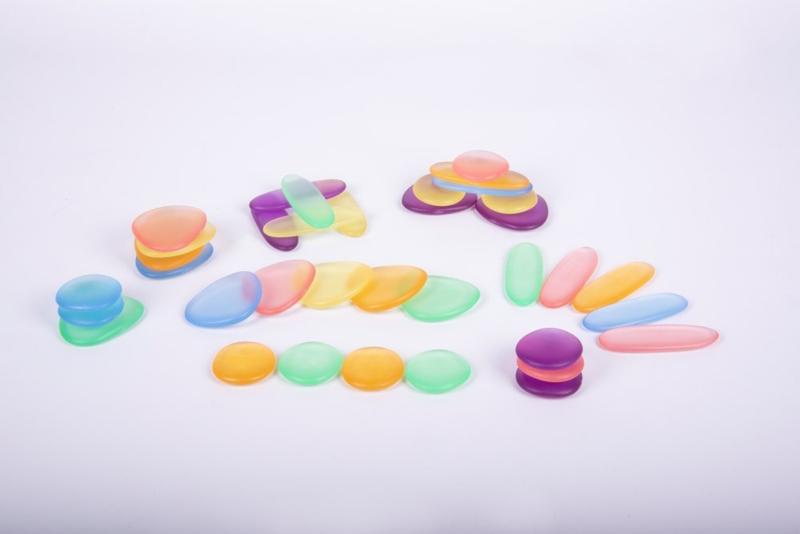 Transparante Junior Rainbow stenen  36 dlg.