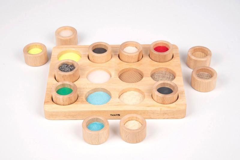 Zintuiglijk Spel | Houten Voel en Match Set | TickiT |12 dlg.
