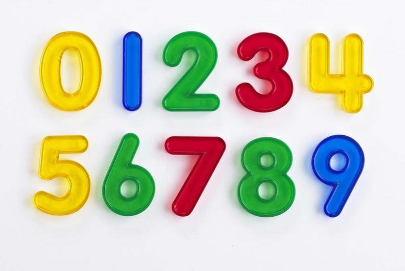 Transparante nummers EDX Education 10 dlg.