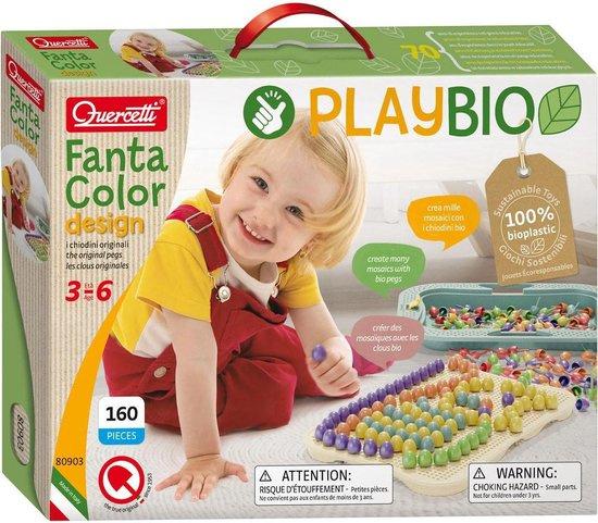 Bio Play Quercetti FantaColor insteekmozaïek 160 dlg.