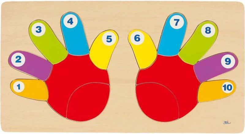 Puzzel vingers tellen   GOKI   14 dlg.