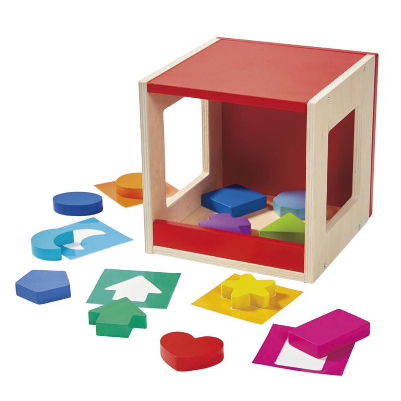 Houten Voel-box, 12dlg.