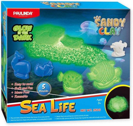 Speelzand Glow in the Dark Onderwaterwereld met zandvormen
