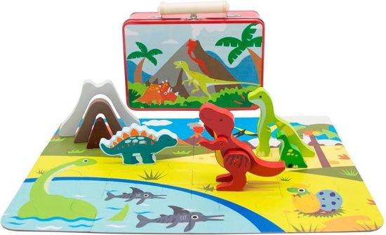 Speelkoffer Dinosaurus   20 dlg.