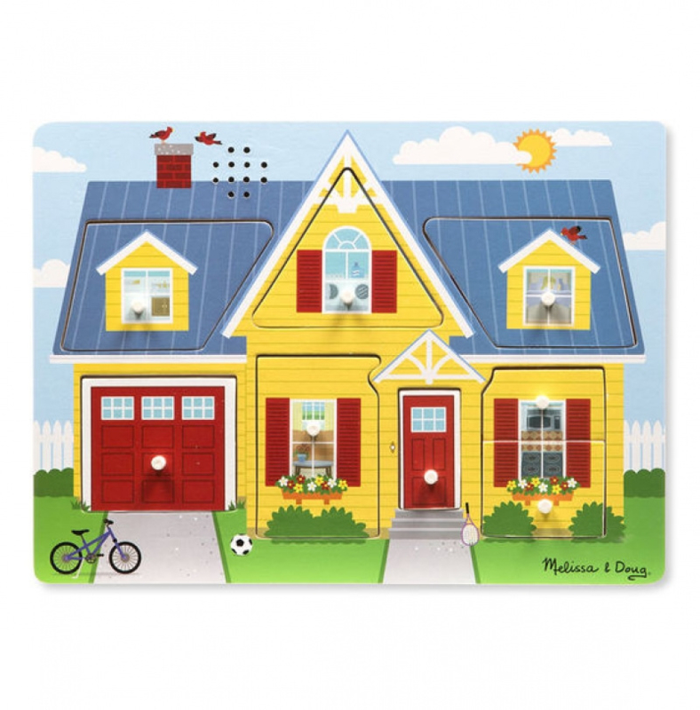 Puzzel met geluid Huis