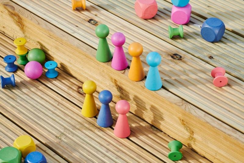 Rainbow houten figuren TickIt 7 dlg. Loose Parts